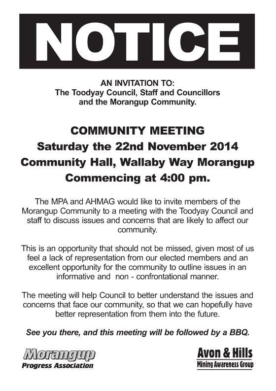 ahmag notice of residents meeting